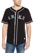 Crooks & Castles Men's Knit Short Sleeve Baseball Jersey-Maison