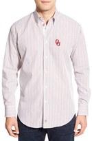 Thomas Dean Men's 'Oklahoma Sooners' Regular Fit Long Sleeve Tattersall Sport Shirt
