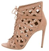 Alaia Studded Laser Cut Ankle Boots