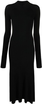 Dion Lee Ribbed-Knit Fitted Dress