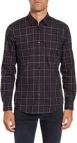 BOSS Regular Fit Windowpane Button-Down Shirt