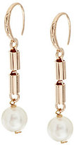 Honora Cultured Pearl 10.0mm Bronze Bar Drop Earrings
