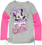 Jerry Leigh Heather Gray Minnie Mouse 'Believe in Mousie' Tee - Girls