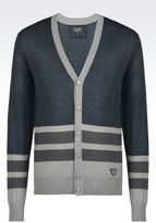Armani Jeans Cardigan In Wool