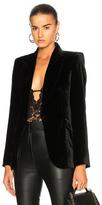 L'Agence Chamberlain Velvet Blazer in Black.