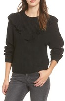 Blank NYC Women's Blanknyc Ruffle Yoke Sweater