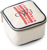 Parker Thatch Dots & Stripes Red Travel Jewelry Box