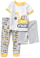 Little Me Baby Boys 3-12 Months Truck Pajama Top, Truck-Print Pajama Pants, and Solid Shorts Set