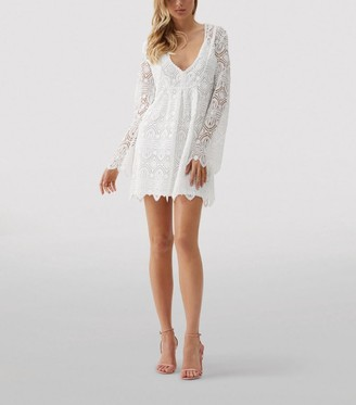 Melissa Odabash Elizabeth Crochet Mini Dress