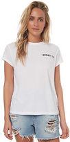 Billabong New Women's Feelin It Tee Short Sleeve Cotton White