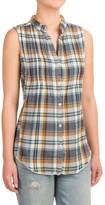 dylan Hippie Vibe Flannel Shirt - Sleeveless (For Women)