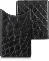 CNC Costume National Peroni Crocodile-Embossed Leather Card Case