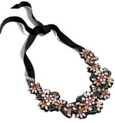 J.Crew Women's Fabric Back Crystal Cluster Necklace