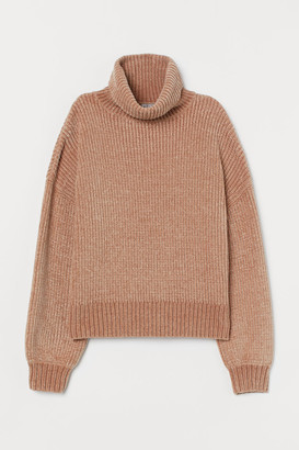 H&M Oversized Turtleneck Sweater - Beige