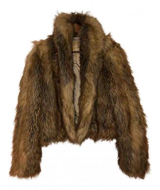 MAISON KITSUNÉ Beige Faux fur Coats
