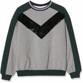 Ikks Junior Girl's Sweat Molleton Bande Sequins Sweatshirt