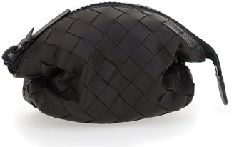 Bottega Veneta Intrecciato Top Zip Clutch Bag