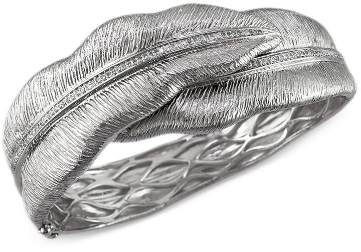 Effy Balissima by Diamond Leaf Bangle Bracelet in Sterling Silver (1/2 ct. t.w.)