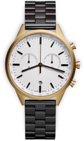 Uniform Wares C41 Men's chronograph watch in PVD gold with black nitrile rubber strap