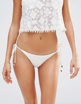 Blue Life Bridal Tie Side Bikini Bottom