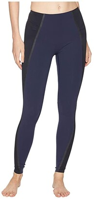 Spanx Exposed Mesh Leggings (Lapis Night) Women's Clothing
