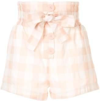 Alice McCall Pink Moon check print shorts