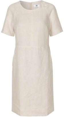 Noa Noa - Basic Linen Classic Cut Dress Natural Linen - 38 - Natural