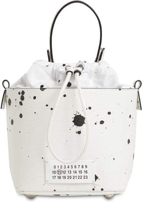 Maison Margiela PRINTED LEATHER BUCKET BAG