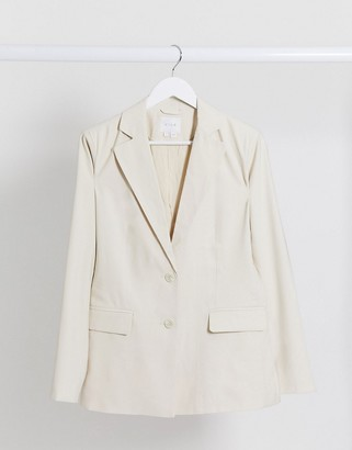 Vila tailored blazer in cream