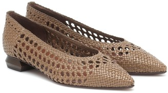 Souliers Martinez Exclusive to Mytheresa Illetes 30 woven leather ballet flats