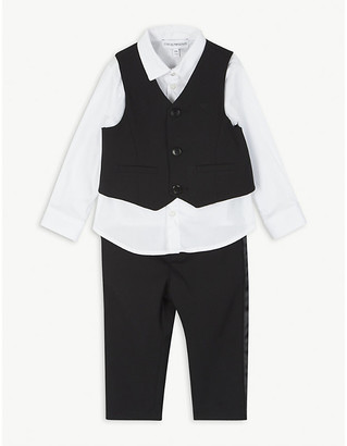 Emporio Armani Shirt, waistcoat and trousers set 6-36 months