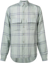 Denis Colomb check button-up shirt - men - Linen/Flax/Cashmere - M