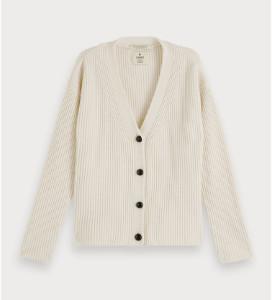 Scotch & Soda Thick Knit Cardigan Off-White - Size XS