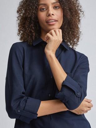 Dorothy Perkins Linen Shirt - Navy