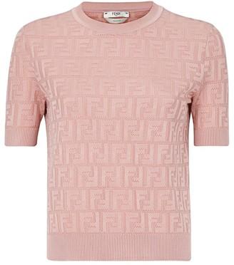 Fendi FF Short-Sleeve Knit