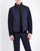 Canali Quilted Shell And Wool Jacket