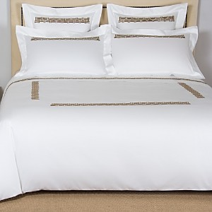 Frette Basket Weave Embroidered Duvet Cover, Queen