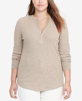 Lauren Ralph Lauren Plus Size Half-Zip Shirt
