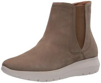 Brothers United Women's Leather Made in Brazil Luxury Chelsea Boot with Sneaker Sole