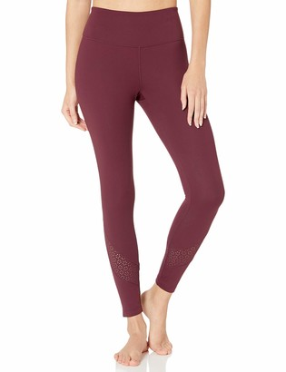 Core 10 Women's Standard Icon Series Laser Cut Eyelet Mesh High-Waist Yoga Legging-26""