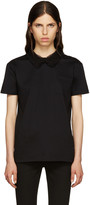 Miu Miu Black Lace Collar T-Shirt