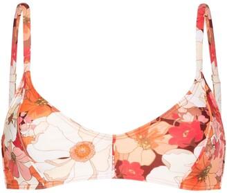 Peony Swimwear Wallflower floral bikini top