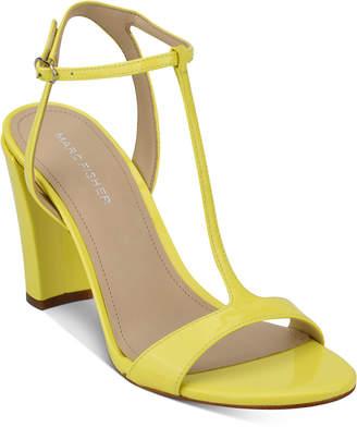 Marc Fisher Toria T-Strap Sandals Women Shoes