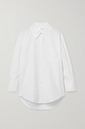 Anine Bing Mika Oversized Cotton-poplin Shirt - White