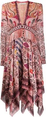 Etro Leopard Print Midi Dress