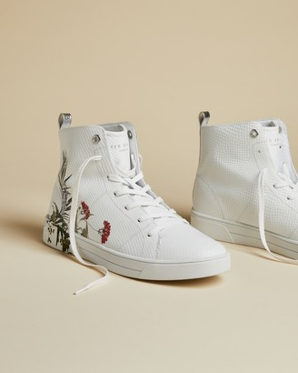 Ted Baker ZEREL Highland leather hi-top trainers