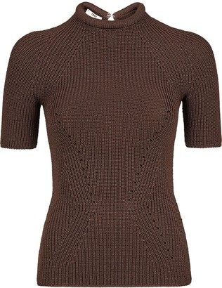 Fendi Knitted Fitted Top