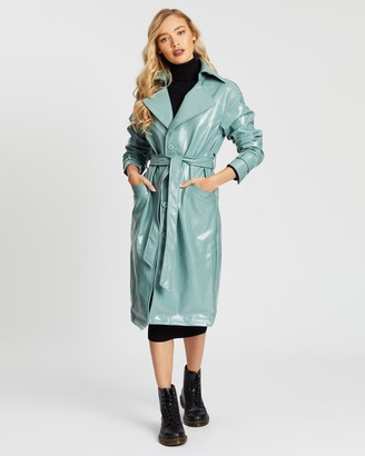 Missguided Textured Vinyl Trench