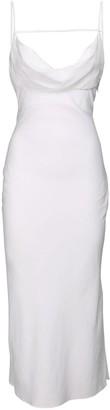 Jacquemus Viscose Blend Midi Dress W/ Drop Collar