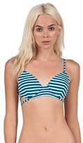 Volcom Women's Broken Lines Triangle Bikini Top